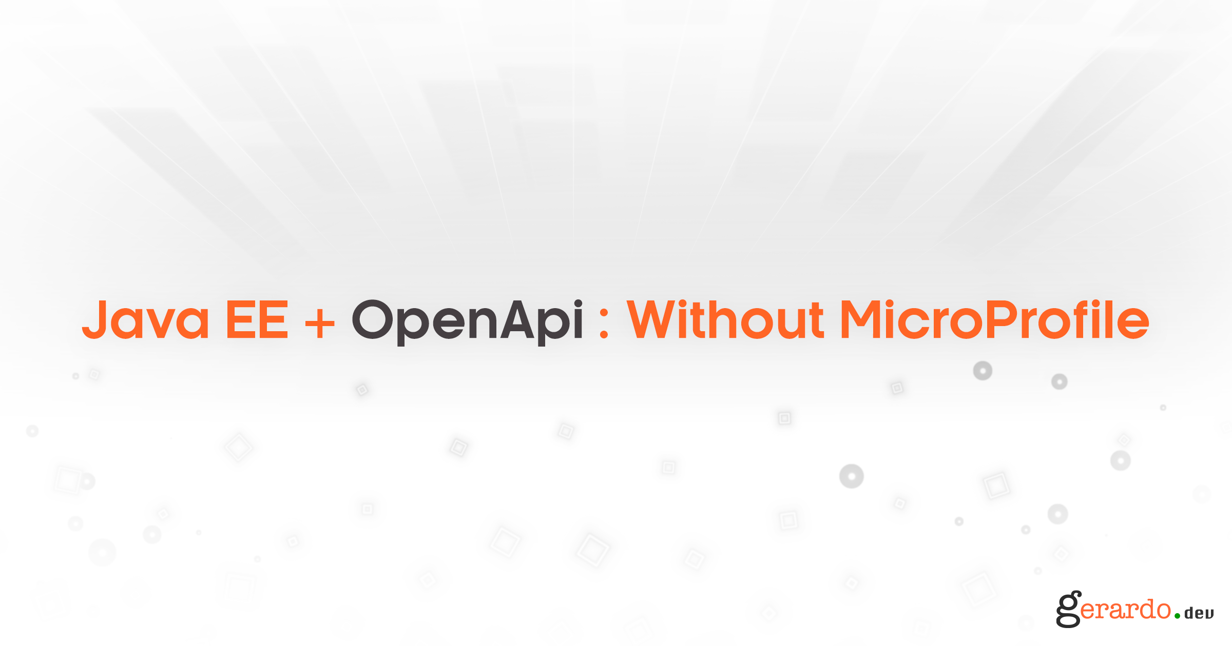 JavaEE + OpenAPI: Sin MicroProfile