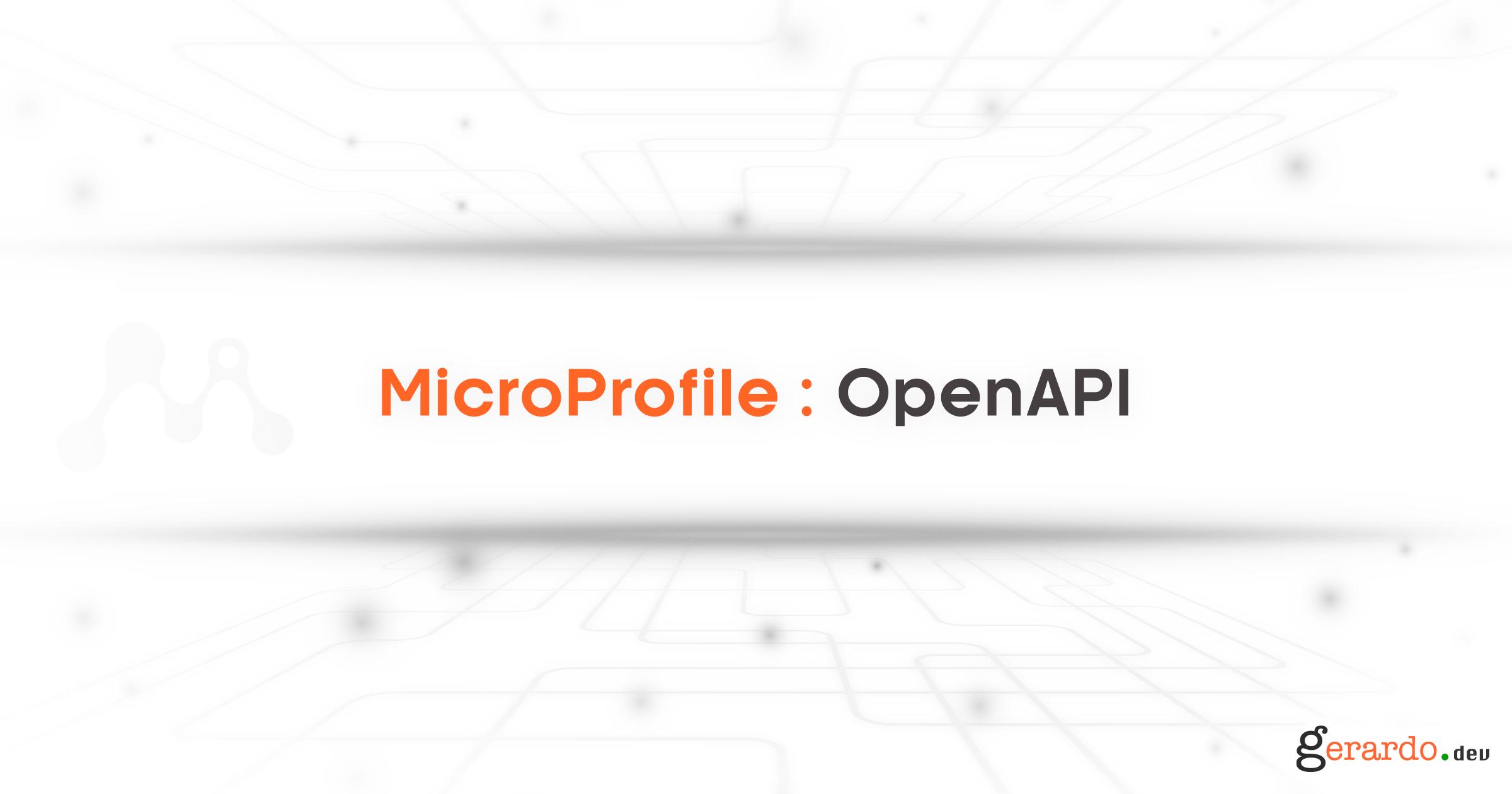 MicroProfile: OpenAPI