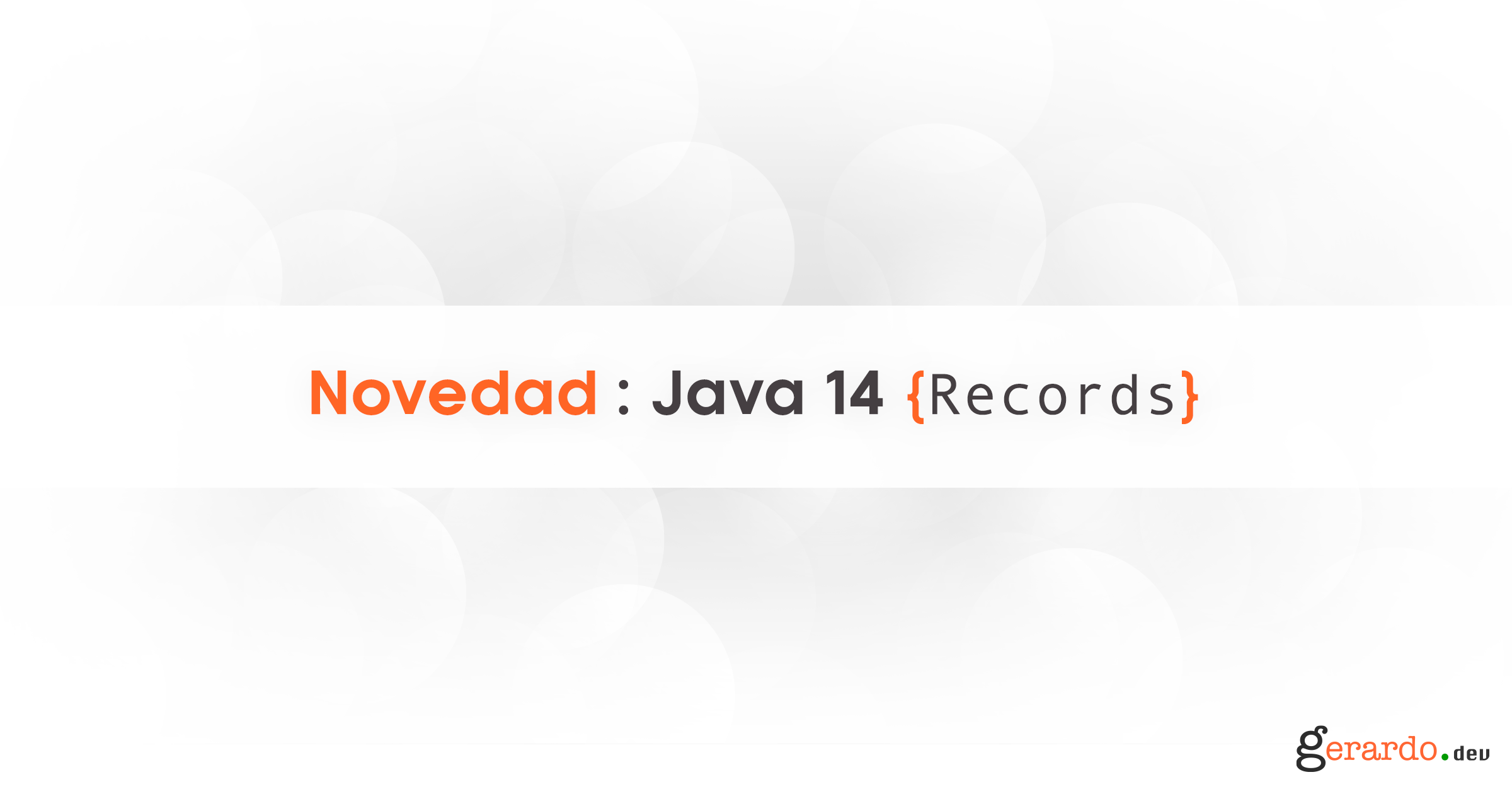 Java 14, Records