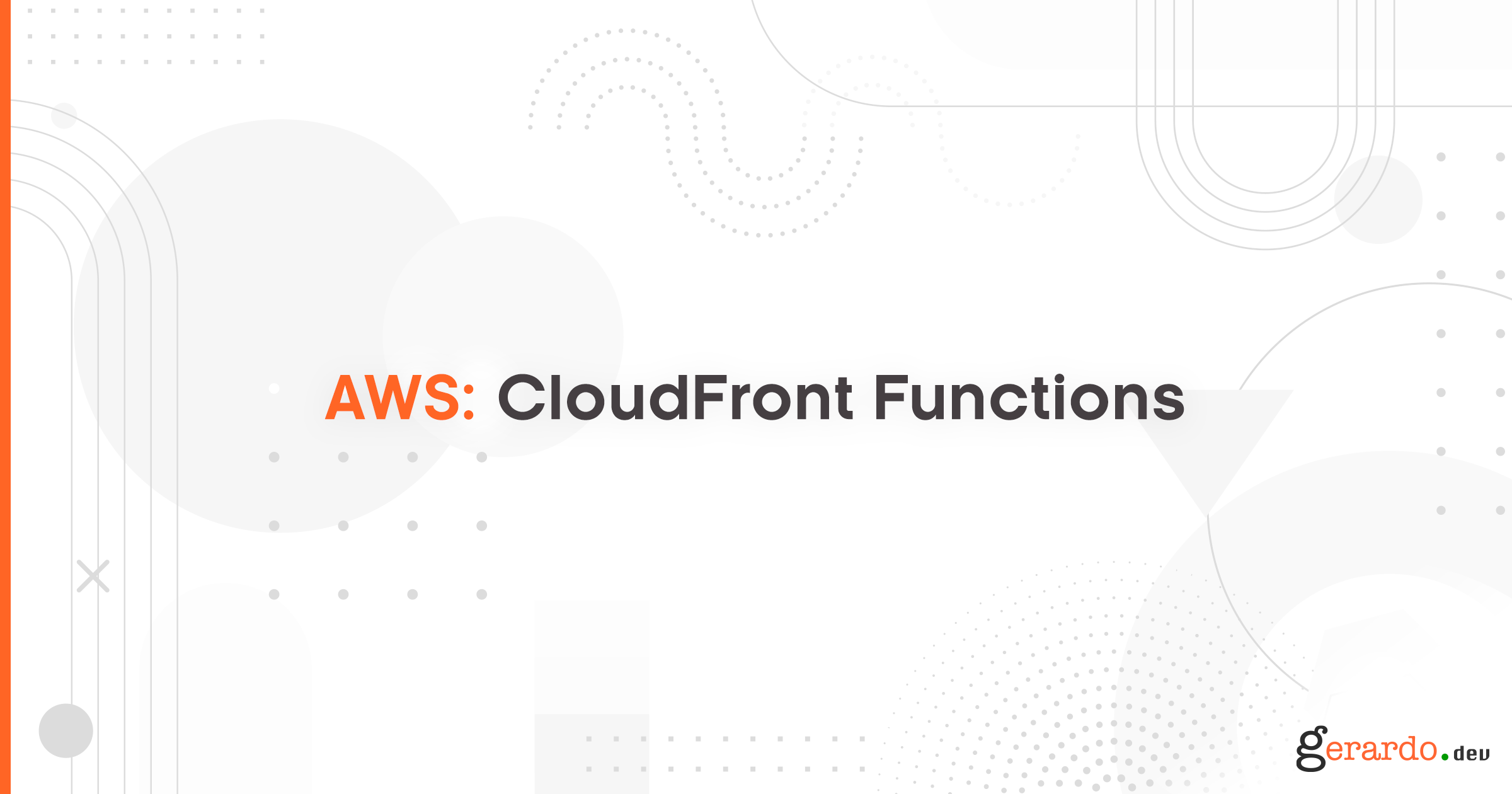 AWS CloudFront Functions